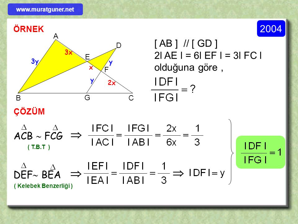    2004 [ AB ] // [ GD ] 2l AE l = 6l EF l = 3l FC l